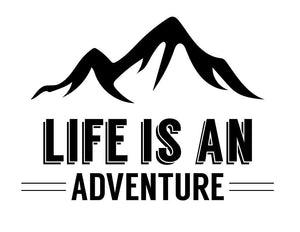 Life Is An Adventure Wall Sticker - Canvas Art Rocks - 2