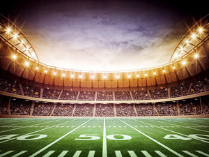 Light of american stadium Wall Mural Wallpaper - Canvas Art Rocks - 1