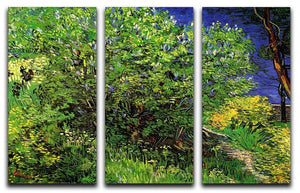 Lilacs by Van Gogh 3 Split Panel Canvas Print - Canvas Art Rocks - 4