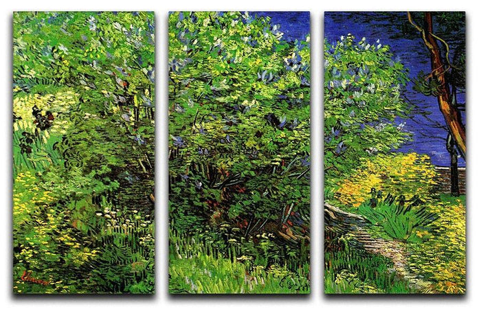 Lilacs by Van Gogh 3 Split Panel Canvas Print