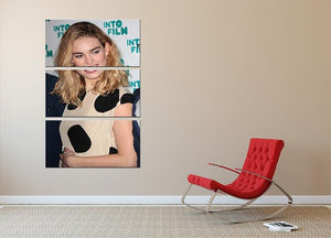 Lily James 3 Split Panel Canvas Print - Canvas Art Rocks - 2