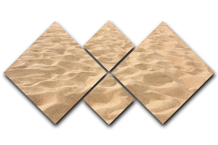 Lines in the sand of a beach 4 Square Multi Panel Canvas