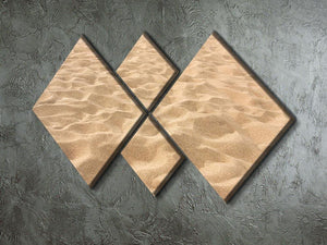 Lines in the sand of a beach 4 Square Multi Panel Canvas  - Canvas Art Rocks - 2