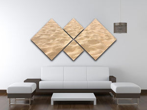 Lines in the sand of a beach 4 Square Multi Panel Canvas  - Canvas Art Rocks - 3