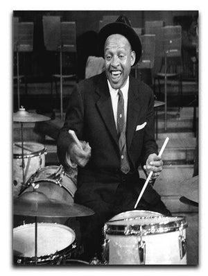 Lionel Hampton on the drums Canvas Print or Poster - Canvas Art Rocks - 1