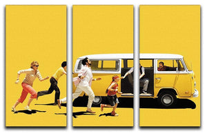 Little Miss Sunshine 3 Split Panel Canvas Print - Canvas Art Rocks - 4