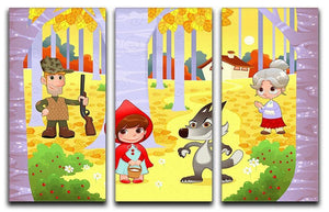 Little Red Hiding Hood scene 3 Split Panel Canvas Print - Canvas Art Rocks - 1