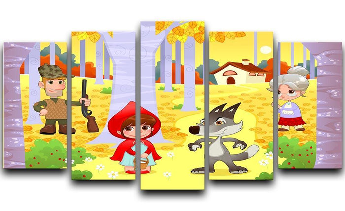 Little Red Hiding Hood scene 5 Split Panel Canvas