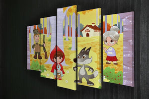 Little Red Hiding Hood scene 5 Split Panel Canvas - Canvas Art Rocks - 2