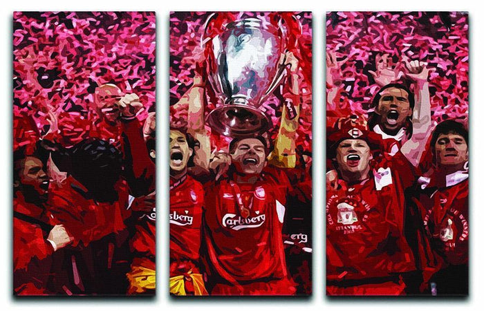 Liverpool Football Champions League In Istanbul 3 Split Panel Canvas Print