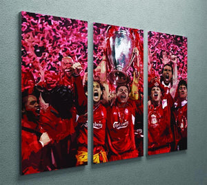 Liverpool Football Champions League In Istanbul 3 Split Panel Canvas Print - Canvas Art Rocks - 2
