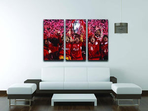 Liverpool Football Champions League In Istanbul 3 Split Panel Canvas Print - Canvas Art Rocks - 3