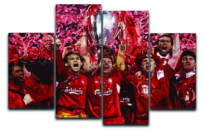 Liverpool Football Champions League In Istanbul 4 Split Panel Canvas