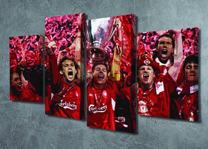 Liverpool Football Champions League In Istanbul 4 Split Panel Canvas - Canvas Art Rocks - 2