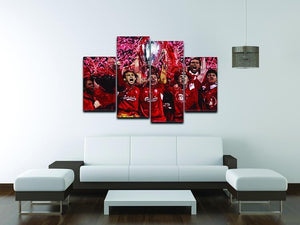 Liverpool Football Champions League In Istanbul 4 Split Panel Canvas - Canvas Art Rocks - 3
