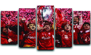 Liverpool Football Champions League In Istanbul 5 Split Panel Canvas  - Canvas Art Rocks - 1