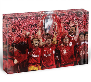 Liverpool Football Champions League In Istanbul Acrylic Block - Canvas Art Rocks - 1
