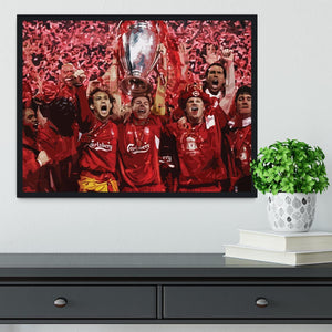 Liverpool Football Champions League In Istanbul Framed Print - Canvas Art Rocks - 2