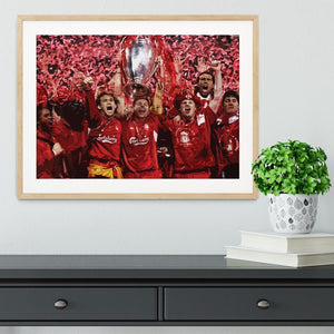 Liverpool Football Champions League In Istanbul Framed Print - Canvas Art Rocks - 3