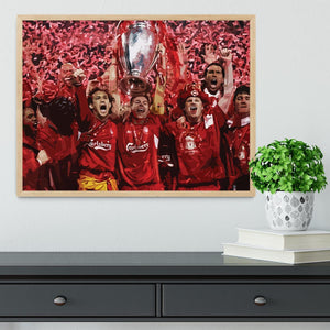 Liverpool Football Champions League In Istanbul Framed Print - Canvas Art Rocks - 4