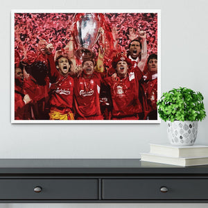 Liverpool Football Champions League In Istanbul Framed Print - Canvas Art Rocks -6