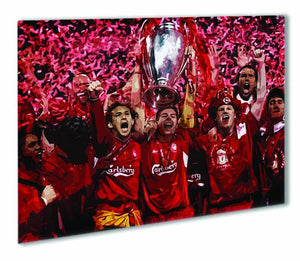 Liverpool Football Champions League In Istanbul Outdoor Metal Print - Canvas Art Rocks - 1