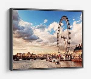London Eye on River Thames HD Metal Print