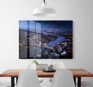 London aerial view with Tower Bridge HD Metal Print