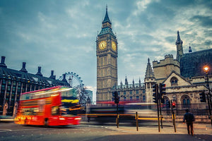 London at early morning Wall Mural Wallpaper - Canvas Art Rocks - 1