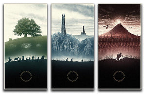Lord Of The Rings Story 3 Split Panel Canvas Print - Canvas Art Rocks - 1