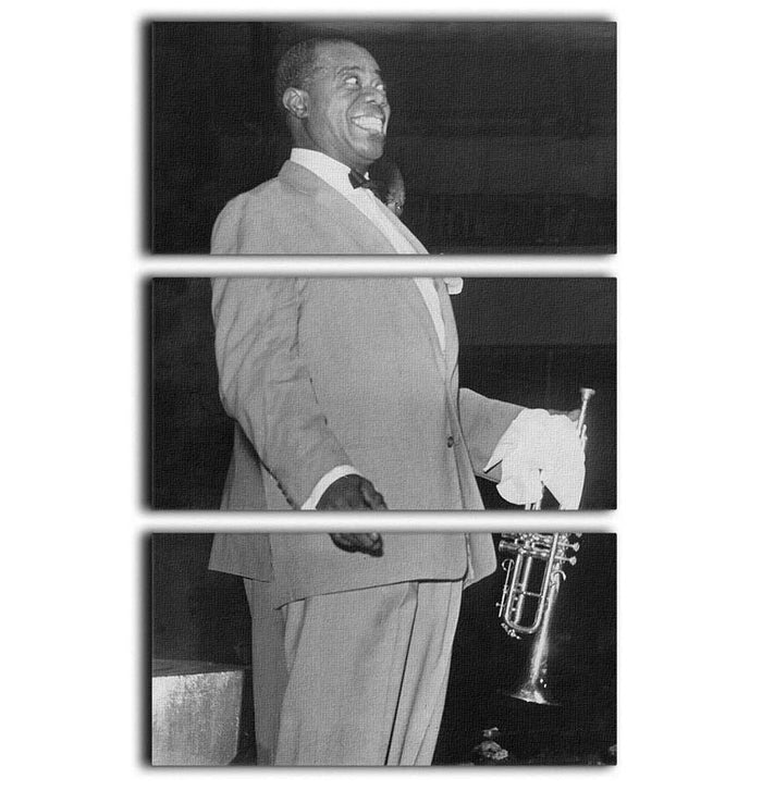 Louis Armstrong in concert 3 Split Panel Canvas Print
