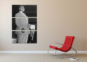Louis Armstrong in concert 3 Split Panel Canvas Print - Canvas Art Rocks - 2