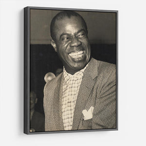 Louis Armstrong laughs HD Metal Print