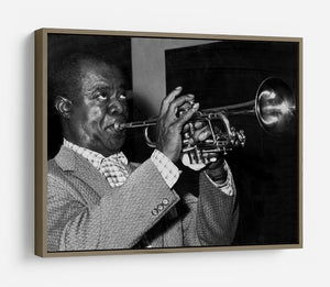 Louis Armstrong plays HD Metal Print