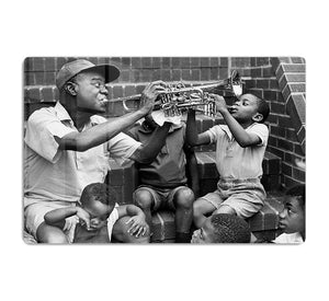 Louis Armstrong with kids HD Metal Print - Canvas Art Rocks - 1