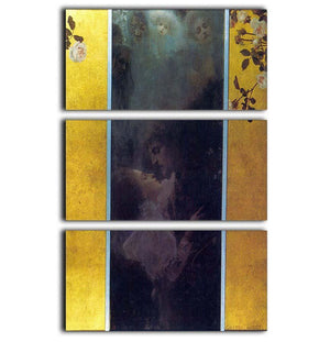 Love by Klimt 3 Split Panel Canvas Print - Canvas Art Rocks - 1