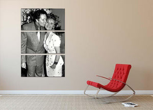Lulu and Tom Jones 3 Split Panel Canvas Print - Canvas Art Rocks - 2