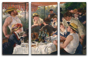 Luncheon of the Boating Party by Renoir 3 Split Panel Canvas Print - Canvas Art Rocks - 1