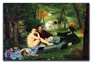Luncheon on The Grass 1863 by Manet Canvas Print or Poster  - Canvas Art Rocks - 1