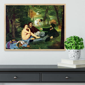 Luncheon on The Grass 1863 by Manet Framed Print - Canvas Art Rocks - 4