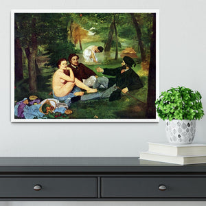 Luncheon on The Grass 1863 by Manet Framed Print - Canvas Art Rocks -6