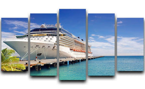 Luxury Cruise Ship in Port on sunny day 5 Split Panel Canvas  - Canvas Art Rocks - 1