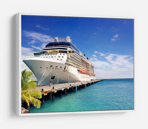 Luxury Cruise Ship in Port on sunny day HD Metal Print