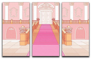 Luxury staircase in the magic palace 3 Split Panel Canvas Print - Canvas Art Rocks - 1