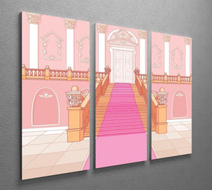Luxury staircase in the magic palace 3 Split Panel Canvas Print - Canvas Art Rocks - 2