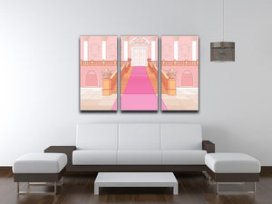 Luxury staircase in the magic palace 3 Split Panel Canvas Print - Canvas Art Rocks - 3