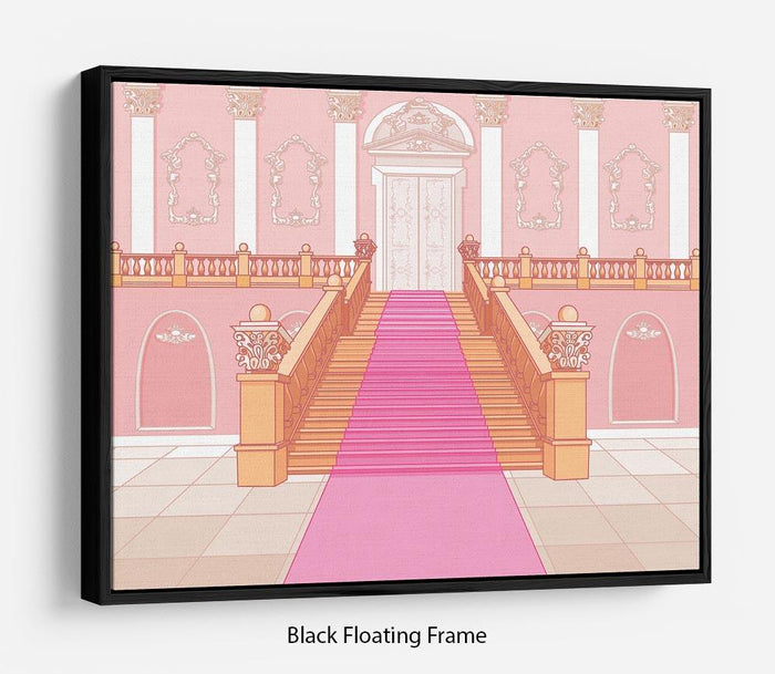 Luxury staircase in the magic palace Floating Frame Canvas