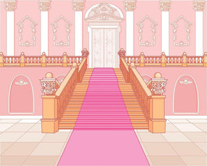 Luxury staircase in the magic palace Wall Mural Wallpaper - Canvas Art Rocks - 1