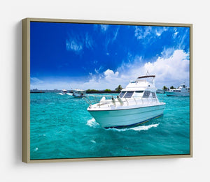 Luxury yatch in beautiful ocean HD Metal Print