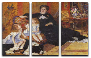 Madame Charpentier and her children by Renoir 3 Split Panel Canvas Print - Canvas Art Rocks - 1